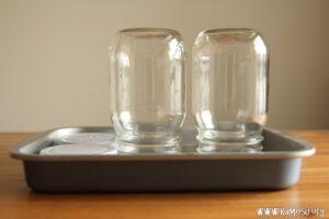 使用する容器類を煮沸消毒する